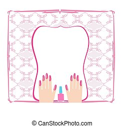 Manicure - abstract card