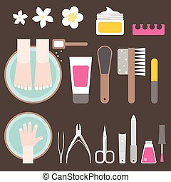 manicure and pedicure, flat design