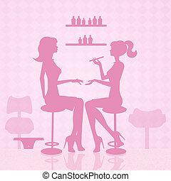 Manicure - illustration of manicure treatment
