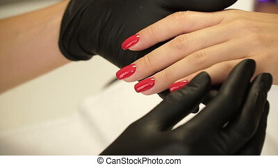 Manicure concept. Hand care at the spa