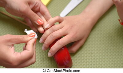 manicure degreasing nails