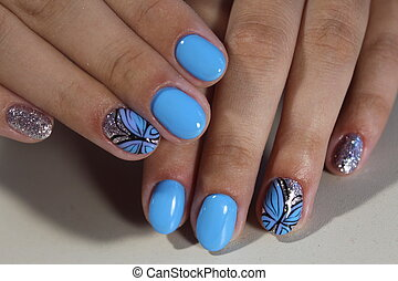 Manicure design with a pattern