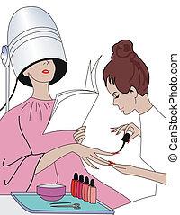 manicure - illustration of manicure