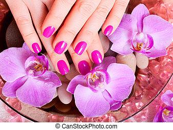 manicure, e, pedicure