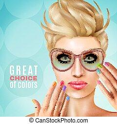 Manicure Female Model Background