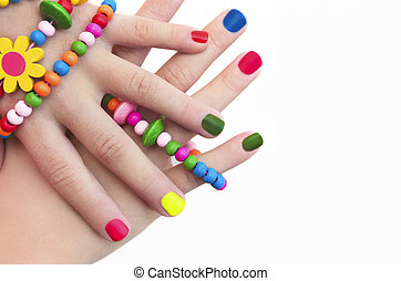 Manicure for girls.