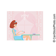 manicure lady