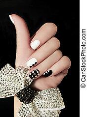 manicure, ligado, shortinho, nails.