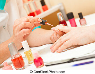 manicure - Manicure. Care of fingers of hands, cleaning,...