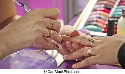 Manicure, nails art painting