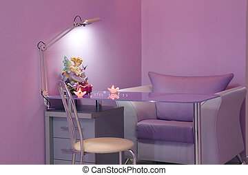 manicure room in a modern beauty salon