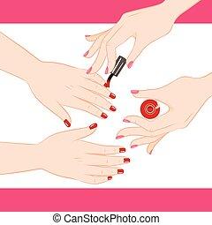 manicure, służba