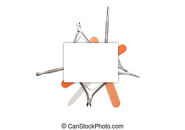Manicure tools isolated on a white background