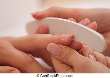 Manicure treatment - Nail buffer