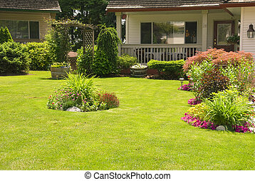 Manicured Yard - Front yard showing fine care and attention ...