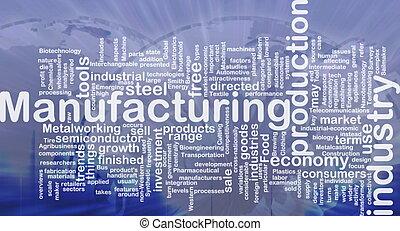 manifatturiero, fondo, concetto