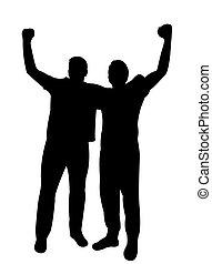 manifestation - two men protesting