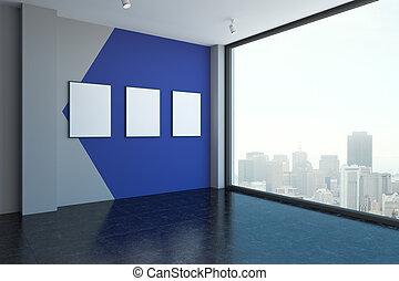 manifesti, stanza moderna