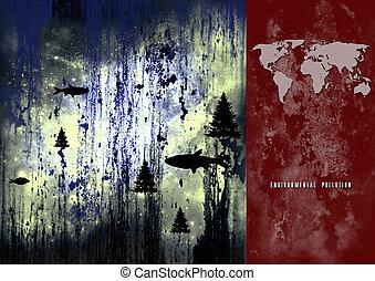 manifesto, ambientale, inquinamento