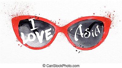 manifesto, asia, occhiali