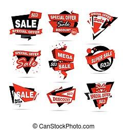 manifesto, banner., grande, clearance., vendita, vendita, ...