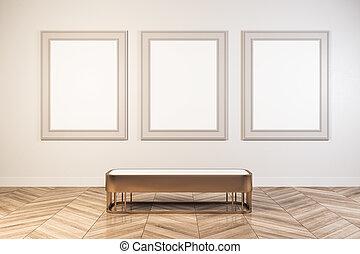 manifesto, bianco, galleria, vuoto