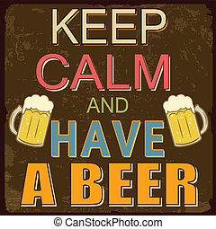 manifesto, birra, calma, possedere, custodire