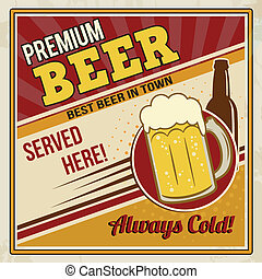 manifesto, birra, premio, retro
