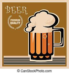 manifesto, birra, retro