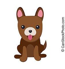 manifesto, cane, illustrazione, vettore, lingua, cucciolo