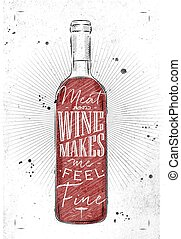 manifesto, carne, vino