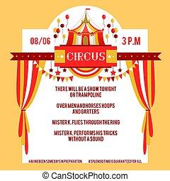manifesto, circo, giallo