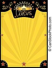 manifesto, circo, retro, giallo