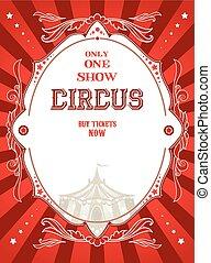 manifesto, circo, rosso