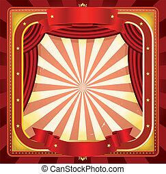 manifesto, cornice, circo, fondo