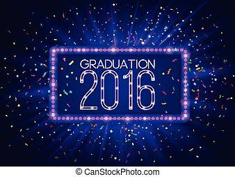 manifesto, di, aviatore, disegno, parte laurea, 2016, classe, lusso