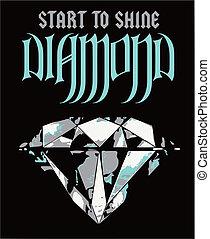 manifesto, diamante, lusso