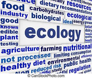 manifesto, ecologia, disegno, scientifico