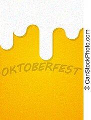 manifesto, fondo, struttura, festival, birra, oktoberfest
