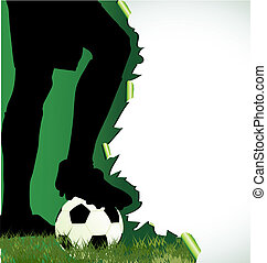 manifesto, football calcio, silhouette, giocatore