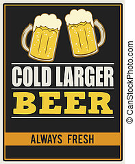 manifesto, freddo, più grande, birra, retro