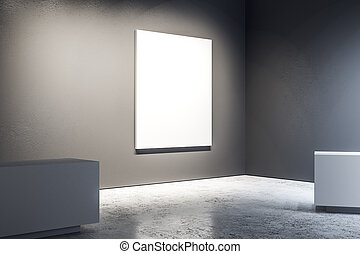 manifesto, galleria, vuoto