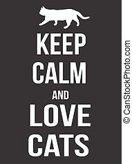 manifesto, gatti, amore, calma, custodire