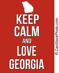 manifesto, georgia, amore, calma, custodire