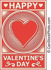 manifesto, giorno valentines, felice