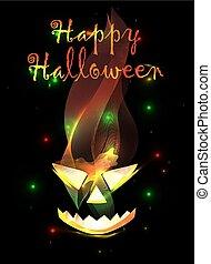 manifesto, halloween, felice