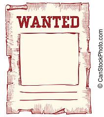 manifesto, immagine, vettore, bianco, desiderato