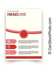 manifesto, immagine, vettore, disegno, sagoma, cerchio, rosso