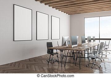 manifesto, moderno, ufficio, vuoto