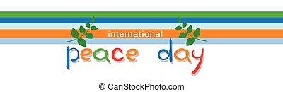 manifesto, pace, internazionale, mondo, vacanza, bandiera, giorno